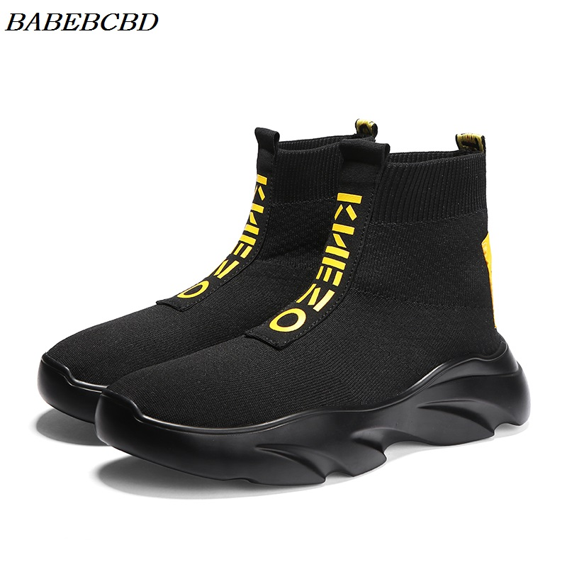 New Shoes for Men Sneakers Casual Men Sock Shoes Breathable Tenis Masculino Adulto High Top Man Trainers Zapatos Hombre Sapatos