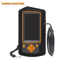 32GB TF Card Dual Lens USB Endoscope HD 1080P Rechargeable Snake Camera Car Repairing Inspection 4.3inch IPS Screen Borescope