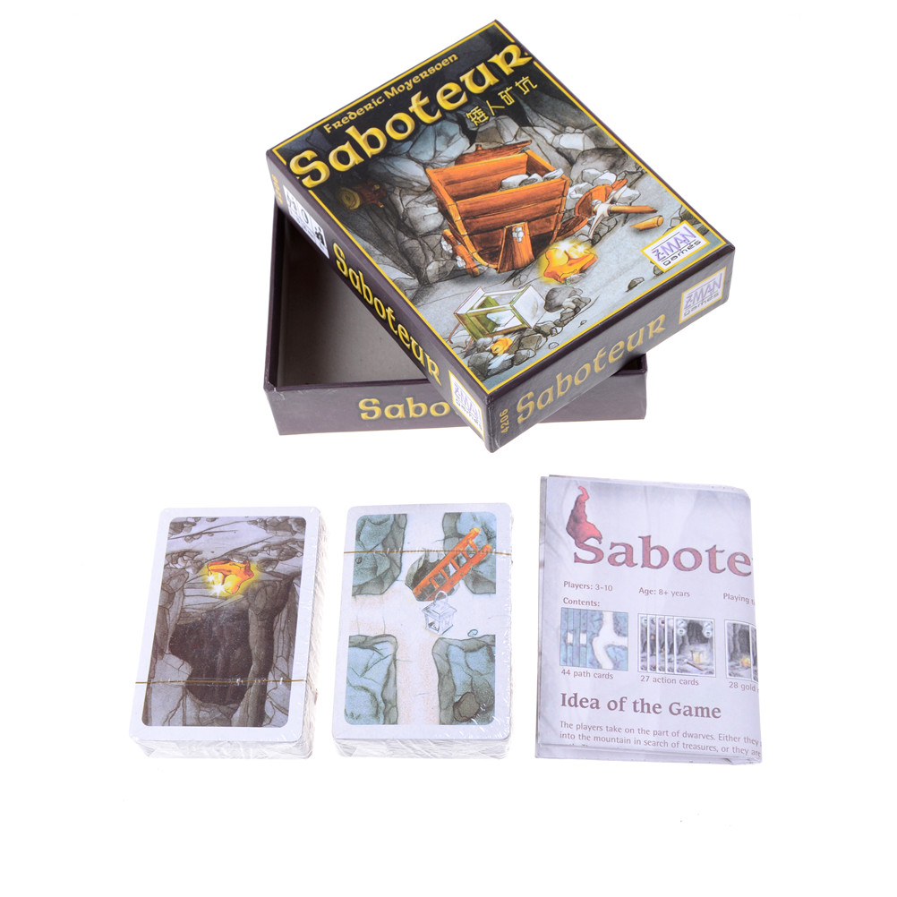 Gag Board Game Toys Saboteur Version Jeu De Base+Extension Board Game With English Instructions Kids Gift Family