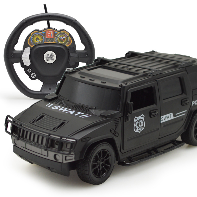 Gravity Induction Rc Steering Wheel Remote Control Cars Open Door Hummer Off-road Car With Lights Children's Electric Toys