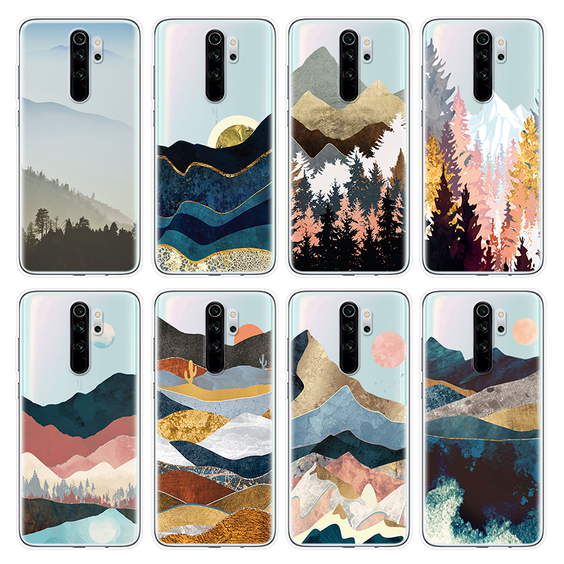 Mountain Soft TPU Case For <font><b>Xiaomi</b></font> <font><b>Redmi</b></font> K30 <font><b>Note</b></font> 8T 8 <font><b>7</b></font> 6 5 K20 3 4 <font><b>Global</b></font> 5A 4X <font><b>Pro</b></font> Funda For <font><b>Redmi</b></font> S2 6A 3S Go Y2 Y3 6A Cover image