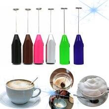 Bebida de leite batedor de café misturador elétrico ovo batedor espuma espuma mini lidar com agitador prático cozinha cozinhar ferramenta ovo