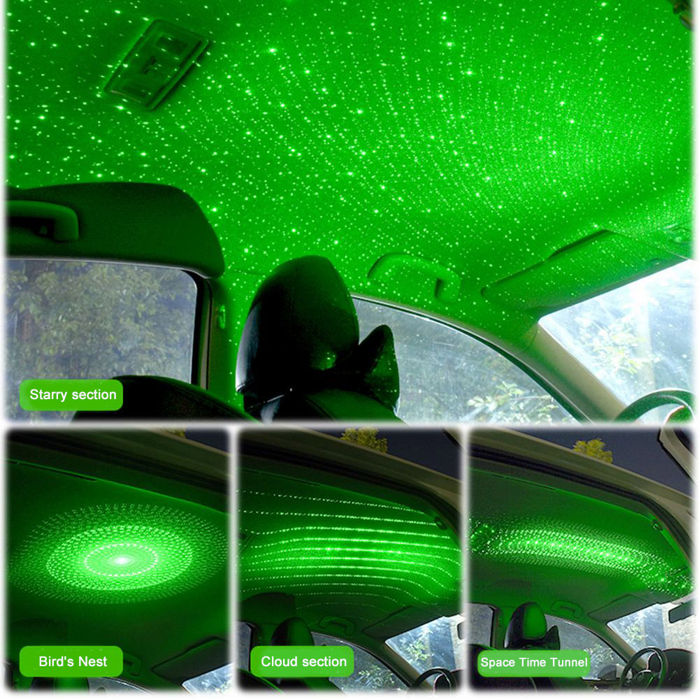 NEW Car Roof Star Light Interior Mini LED Starry Laser Atmosphere Ambient Projector Lights USB Auto Decoration Night Clouds