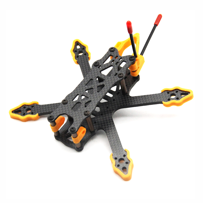 ZJWRC 140mm Wheelbase 3 Inch 4mm Arm Carbon Fiber FPV Racing Frame Kit For RC Dronefor RC Drone FPV Racing