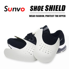 Sapato escudo sapatilha anti vinco toe caps protetor maca expansor shaper almofada de apoio sapatos acessórios dropship logotipo impressão