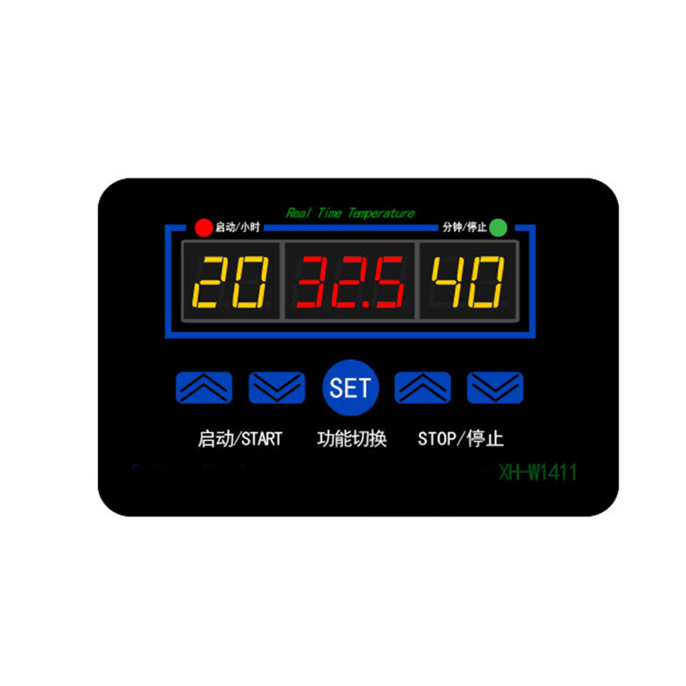 XH-W1411 12V/220V Digital Three-display LED Temperature Controller Thermostat Control Switch -19~99