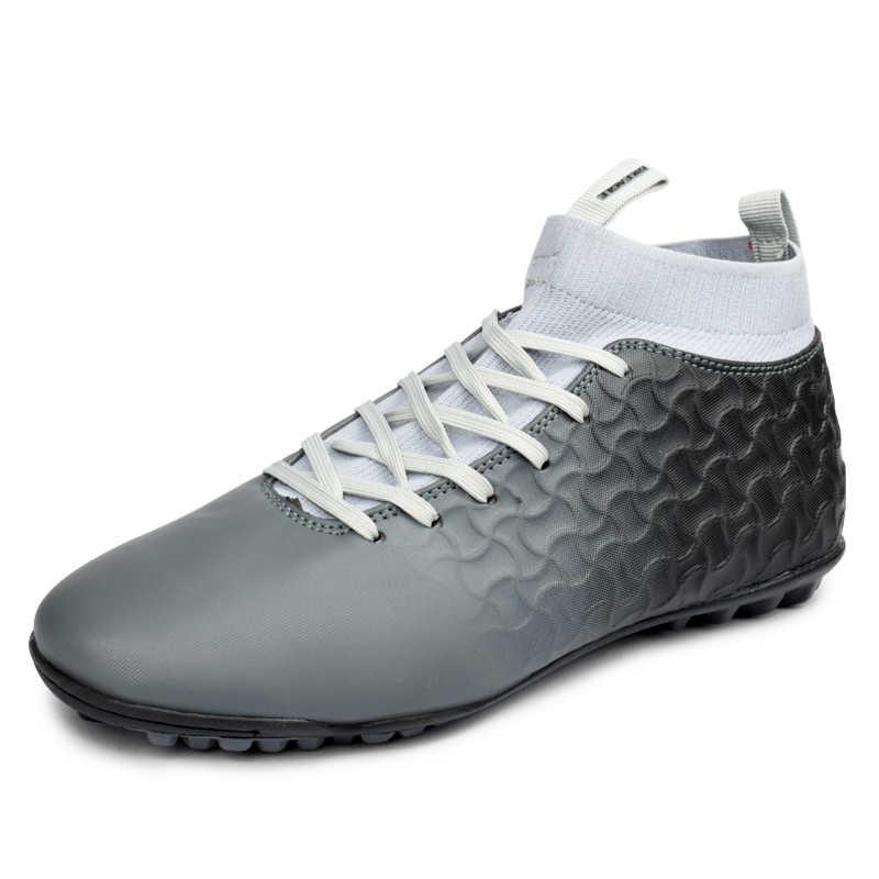 2019 Новая Мужская футбольная обувь высокие носки уличные мужские детские футбольные кроссовки профессиональные черные зеленые мужские футбольные кроссовки