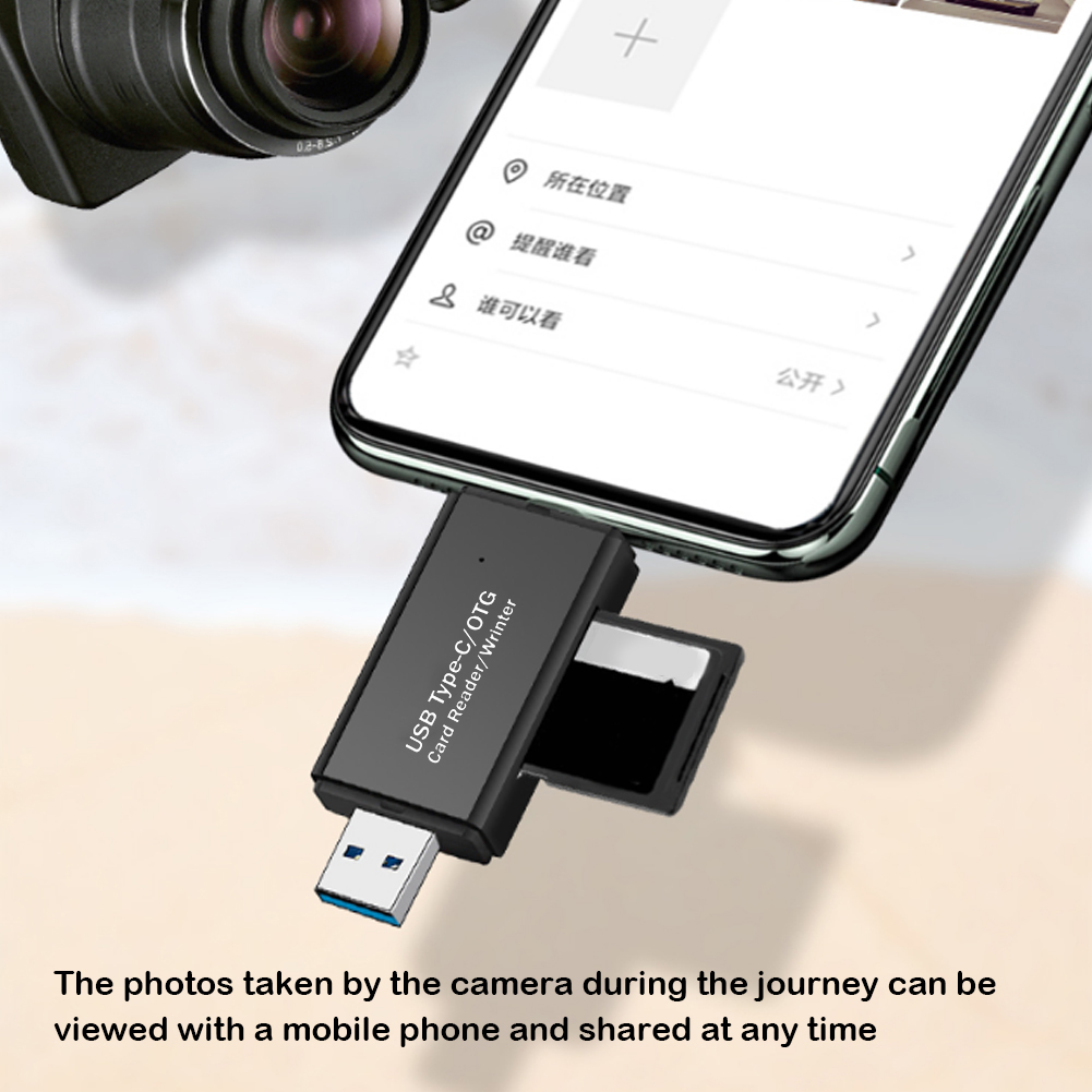 USB 3.0 OTG SD Card Reader Micro TF Smart Memory Card Adapter Office Caring Computer Supplies for Android Laptop