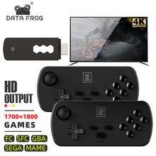 DATA FROG – Console de jeu vidéo rétro 4K, sans fil, USB, avec 3500 jeux classiques intégrés, compatible avec GBA/MAME