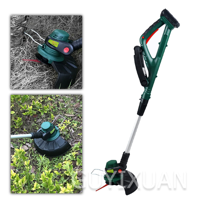 Electric Lawn Mower Wireless Grass Trimmer Lithium Electricity Garden Lawn Tools Cutter Pruning Home Gardening Power Tools