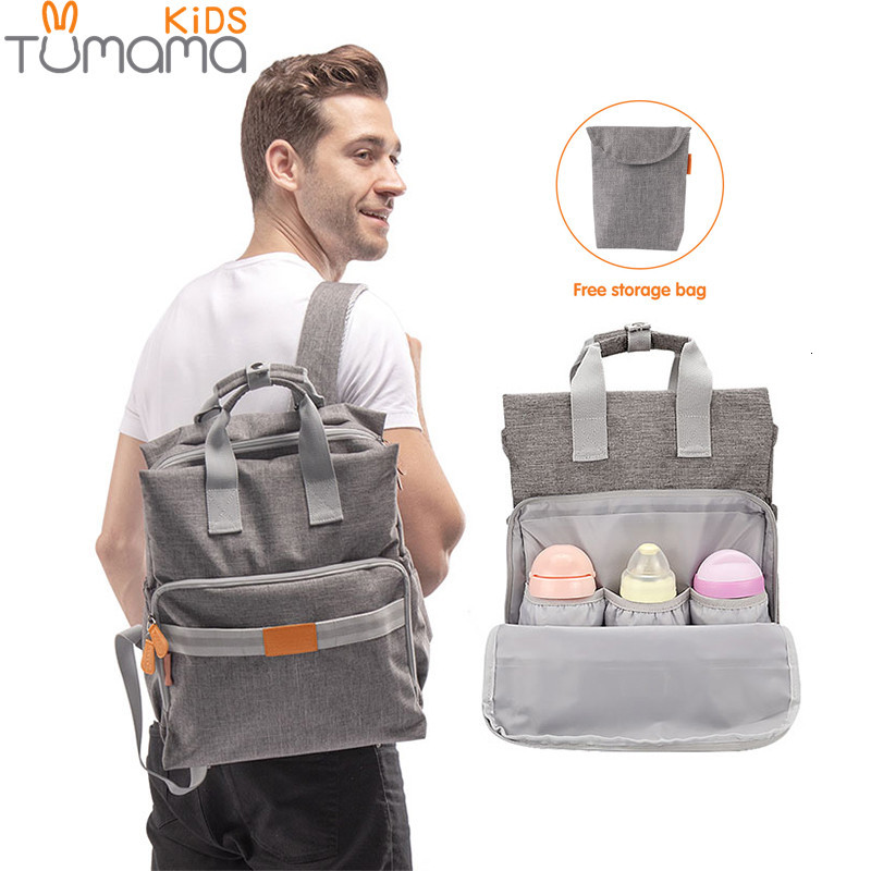 Tumama Baby Care Bag Mummy Maternity Nappy Bags Large Capacity Travel Backpack Desin Diaper Nursing Bottle Insulation Bags
