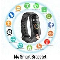 M4 Smart Uhr IP67 Smartwatch Blutdruck Herz Rate Monitor Frauen Männer Schlaf Fitness Tracker Sport Uhr Micro USB Lade-in Smart Watches aus Verbraucherelektronik bei
