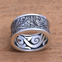 Vintage Metal Rings for Men Women Unique Stripe Lines Rings Steampunk Finger Silver Ring Lover's Jewelry Fashion Accessories