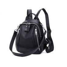 Dame Rucksack Aus Echtem Leder Frauen Rucksack Wasserdicht Schule Taschen für Teenager Mädchen Mochila Mode Taschen Luxus Taschen 2019 Neue