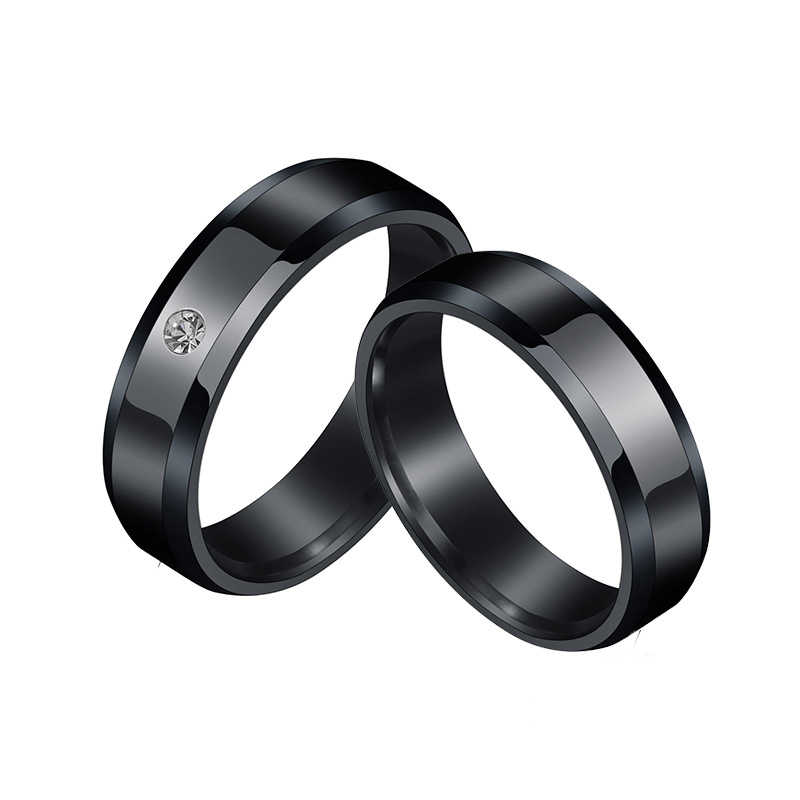 New Fashion Silver Stainless Steel Rings For Women Men Wedding Rings Simple Couple Gold Ring Jewelry Female Engagement Ring Gift