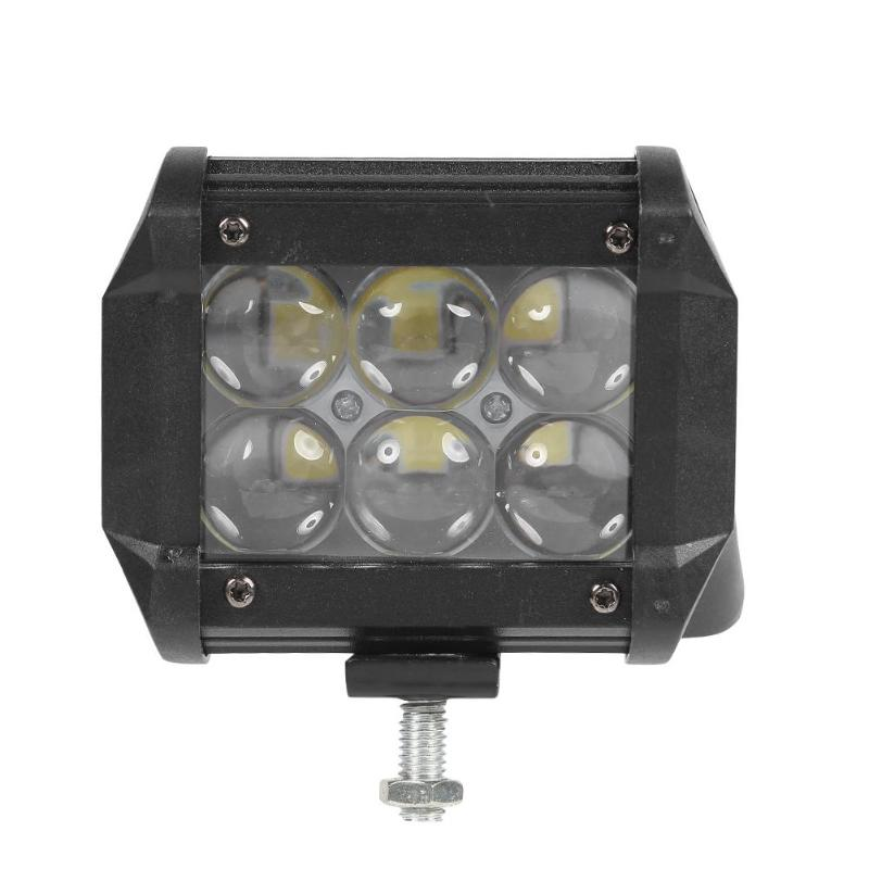 Waterproof 5D Lens 18W LED Work Light Excellent Dust and Seismic Performance Bar Spot Beam Off-road Lamp for Car Boat image