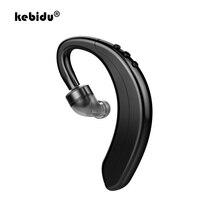 kebidu Sports Mini Business Earphone HD Call Noise Reduction Stereo Earphone Wireless Bluetooth 5.0 Long Standby Single Ear