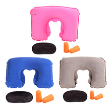 Portable U Shape Travel Pillow for Airplane Inflatable Neck Pillow Travel Accessories Car Interior Comfortable Pillow for Sleep