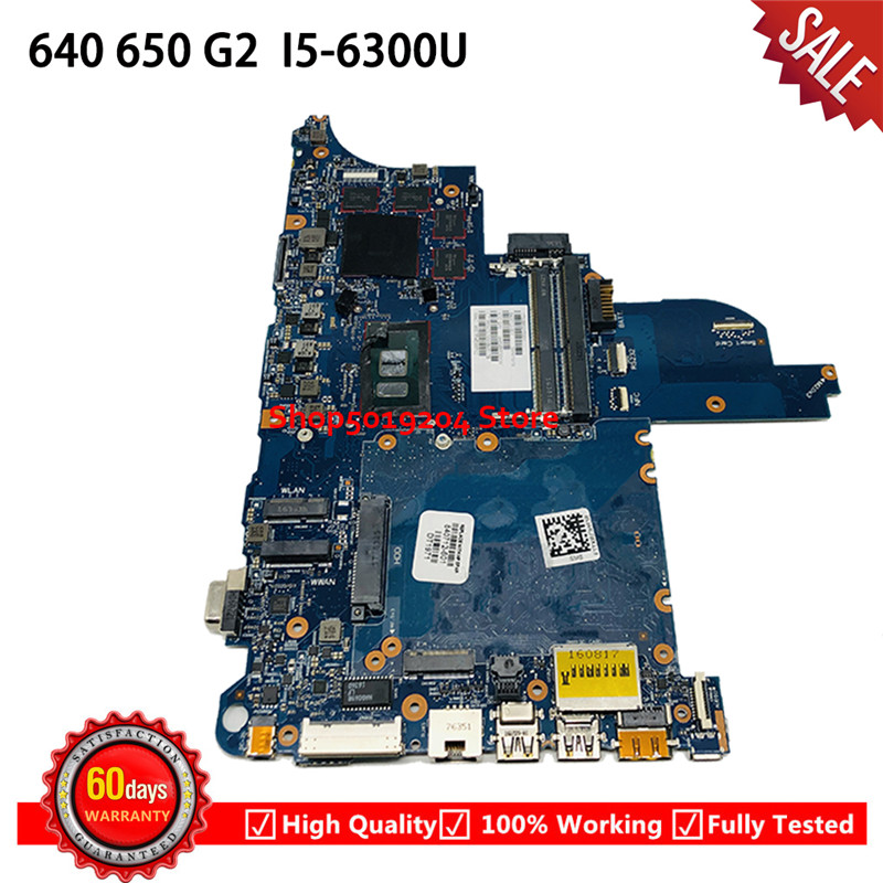 For HP 640 G2 <font><b>650</b></font> G2 series laptop motherboard <font><b>i5</b></font>-6300 CPU 6050A2723701-MB-A02 840712-001 840712-501 840712-601 Mainboard image