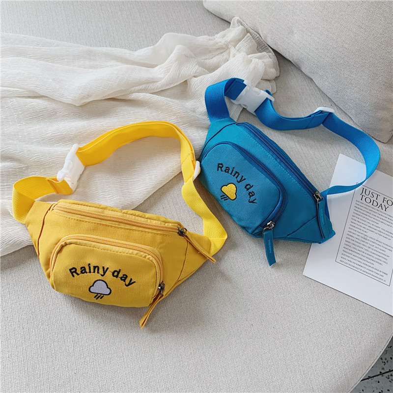 Children's Waist Bag Child Yellow Mini Messenger Bag Fashion Young Boys Girls Student's Pockets On Belt Banana Bag Personalized