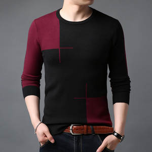 Sweater Turtleneck Knitted Matching Thickening In-The-Autumn Men Long-Sleeved Joker of