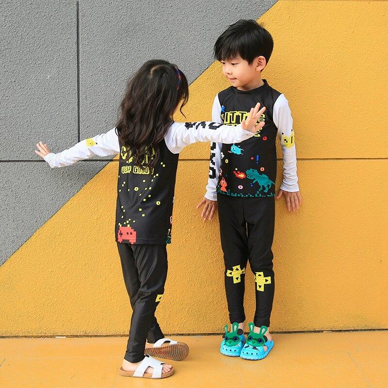 2017 New Style KID'S Swimwear Men And Women Children Two-piece Swimsuits Sun-resistant KID'S Swimwear Sha Tan Yi 7287