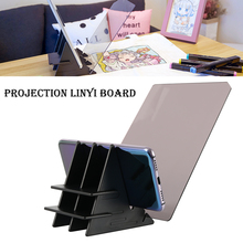 LED Projection Optical Drawing Board Sketch Specular Reflection Dimming Bracket Holder Linyi Painting Mirror Plate Copy Table