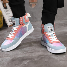 Fashion High Top Sneakers Women Lace Up Beautiful Genuine Leather Sneakers For Women EVA Patchwork Casual Shoes Women pu patchwork lace up sneakers