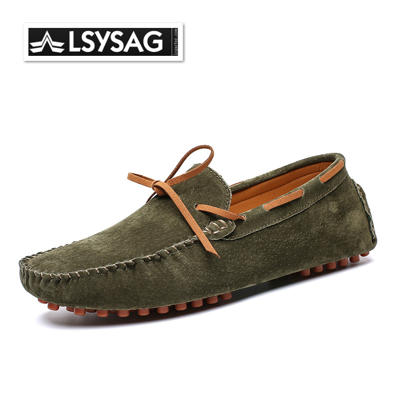 Men Loafers Fashion Style Soft Moccasins Men Loafers High Quality Genuine Leather Shoes Men Flats Gommino Driving Shoes Big Size
