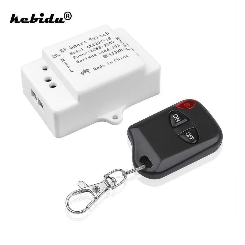 Buy 433MHz 220V Lamp Wireless Remote Control Switch ON/OFF 433 MHz 110V Remote Control Receiver Transmitter For Led Lights Bulb DIY for only 2.96 USD