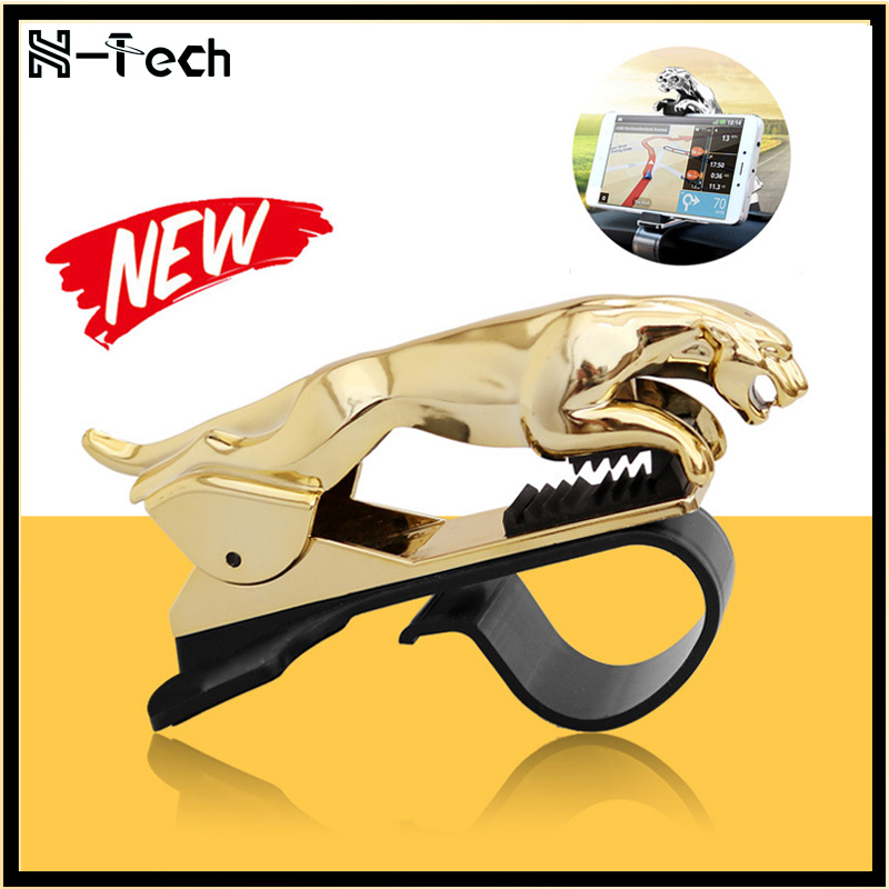 Leopard Car Phone Holder Dashboard Mount Universal Body Cellphone Clip GPS Bracket Mobile Phone Holder Stand For IPhone 11 11Pro
