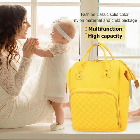 2019 NEW Fashion Diaper Bag Mommy Backpack Pure Color Mommy Travel Backpacks Large Nylon Maternity Baby Care Nursing Diaper Bags Multan