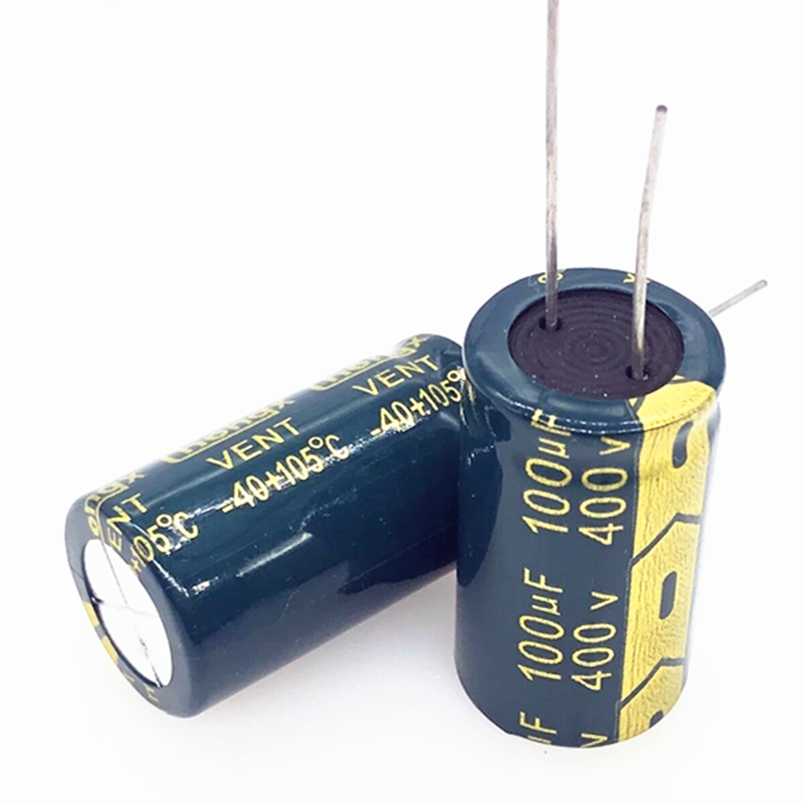 4pcs/lot 400V 100uf  18*30 20% RADIAL Aluminum Electrolytic Capacitor 100000NF