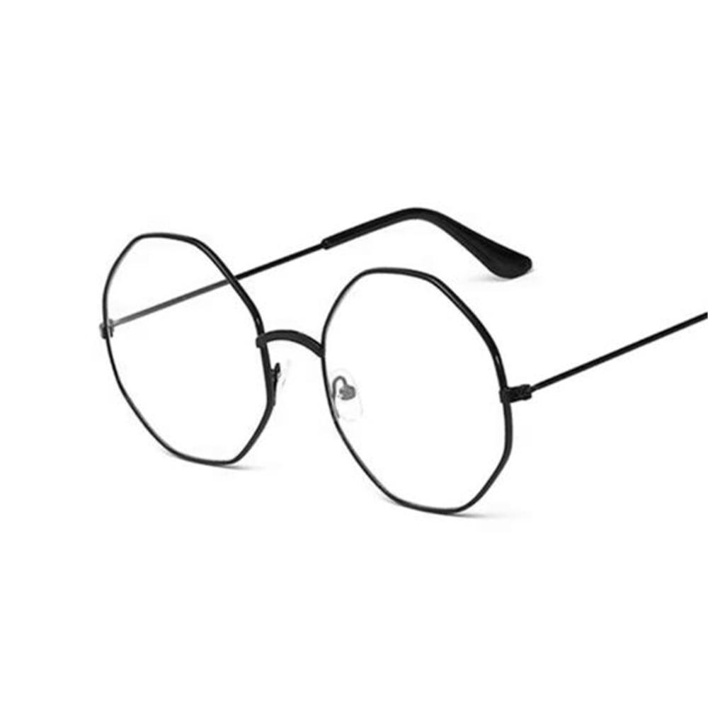 2019 New Classic Vintage Glasses Frame Octagon Lens Flat Myopia Optical Mirror Simple Metal Women/Men Glasses Frame Free Ship