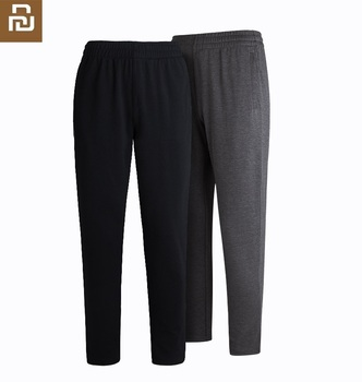 Youpin New Men's micro straight Knitted trousers sports Comfortable knitting YKK zipper Leisure Fitness Running Sweatpants