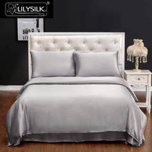 LilySilk Duvet Cover Silk 100 Pure Natural Mulberry Natural 19 momme Silk Seamless Luxury White queen king size Free Shipping(China)