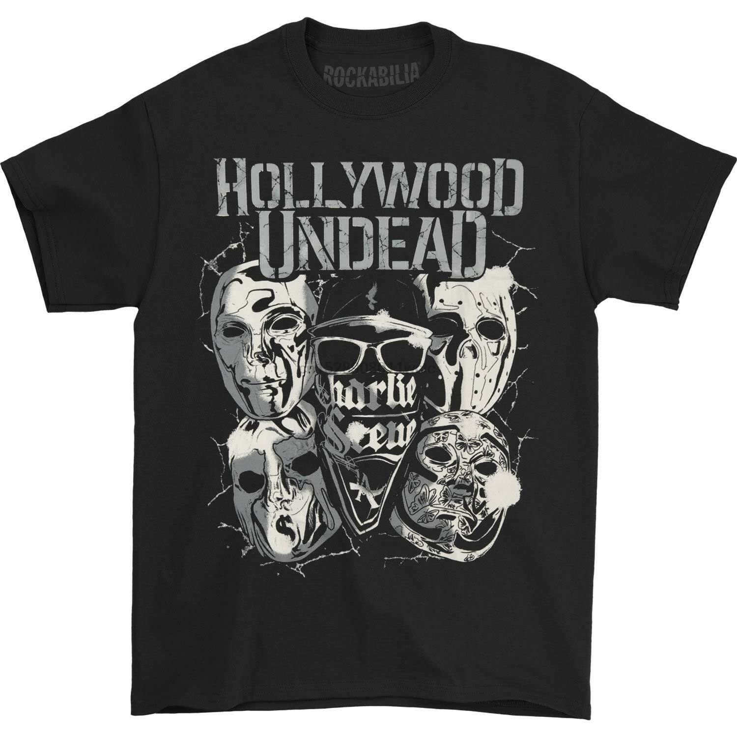 Hollywood Undead Mask Teen Boys and Girls Fashion Short Sleeve Tshirts Classic Fit