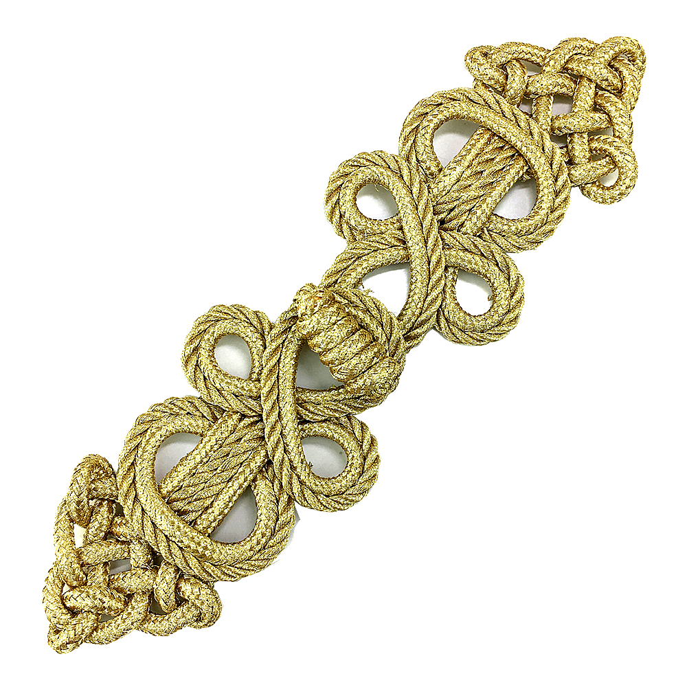 Image 2 - 6set Gold Baroque Frog Fastener Cord Embroidery Closure Chinese Knot Button Retro Applique For Clothing DIY Accessories AC1507Patches   -