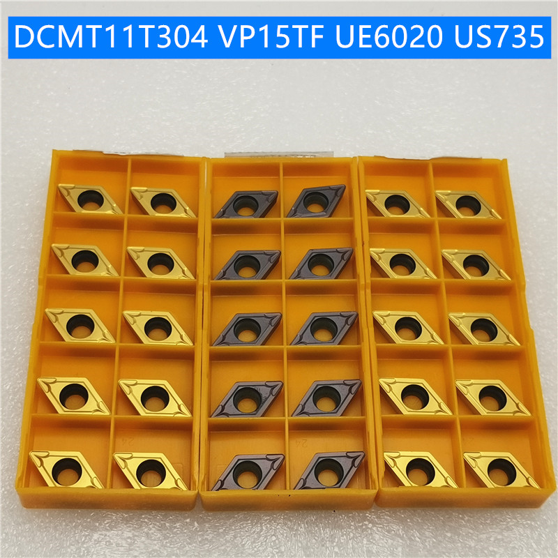 DCMT11T304 DCMT11T308 UE6020 US735 VP15TF Carbide Insert Turning Tool Turning Milling Cutter CNC Cutting Tool Slot Cutting