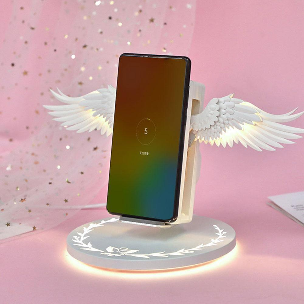 2019 New fast 10W Angel Wings Wireless Charger For iPhone X XR XSMAX samsung huawei xiaomi