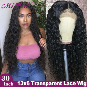30 Inch Water Wave Wig 13x6 Lace Front Human Hair Wigs For Women 360 Lace Frontal Wig Brazilian Remy Hair 4x4 Lace Closure Wig(China)