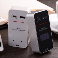 Przenośna bezprzewodowa wirtualna klawiatura laserowa Bluetooth Mini klawiatura projekcyjna Bluetooth dla Windows dla telefonów komórkowych
