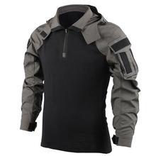 Outdoor męska bluza z kapturem taktyczna koszula myśliwska umundurowanie bojowe kamuflaż szybkoschnący z kapturem z długim rękawem męska koszulka sprzęt tanie tanio HAN WILD CN (pochodzenie) Pełne COTTON POLIESTER Bayer Odporna na mechacenie Zapobiegające kurczeniu Zapobiega marszczeniu
