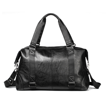 New Fashion Men PU Leather Commercial Handbag Shoulder Bag Male Business Briefcase Messager Bag High Capacity Travel Bag Sale chileelove tassels marble pattern pu leather cosmetic bag makeup brushes kit bag handbag fashion zipper bag high capacity