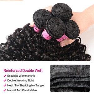 Image 4 - Волосы UNICE Малазийские Вьющиеся переплетенные человеческие волосы для наращивания 1/3/4 шт Remy Волосы пряди 100% натуральный цвет волосы для плетения 8 26 дюймов