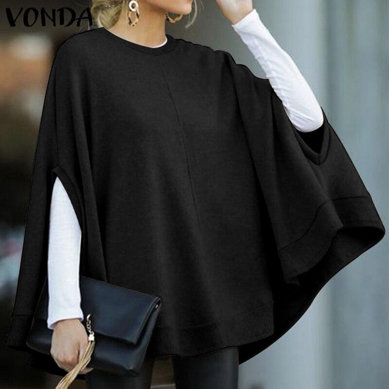 Winter Blouse Women Tunic Casual Tops 2020 VONDA Female Sweatshirts Shirts Spring Long Sleeve Shirts Tunic Plus Size S-5XL