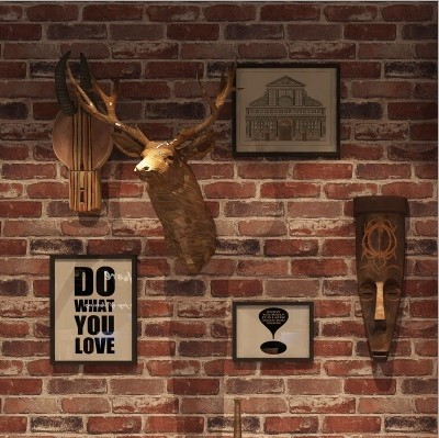 Manufacturers Direct Selling 3D Vintage Brick Pattern Brick Wallpaper Clothing Store Theme Restaurant Tea House Antique Brick Wa