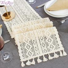 Table Runner Vintage Rustic Wedding Decoration Accessories Lace Ribbon Centerpieces Event Birthday Party Supplies
