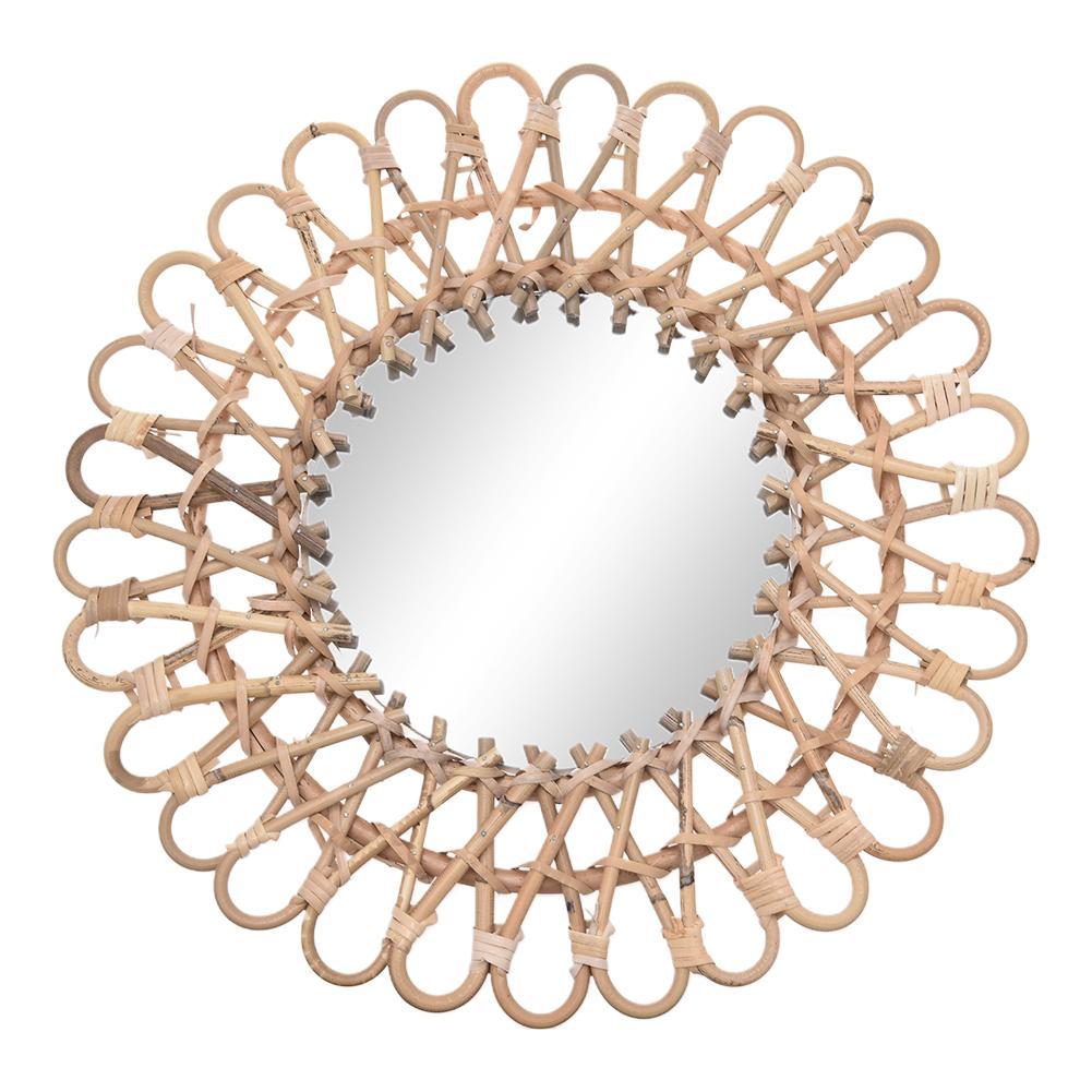Скандинавское плетеное настенное зеркало из ротанга, круглое туалетное зеркало для дома, гостиной, ванной комнаты, Декоративное Настенное подвесное зеркало|Декоративные зеркала|   | АлиЭкспресс - Зеркала