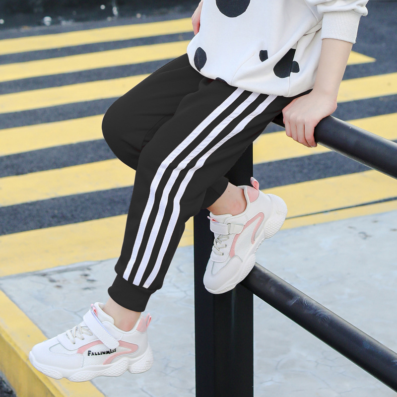 Autumn Winter Boys and Girls Trousers Stripe Sport Pants for Girls and Boys Kids Pants 2